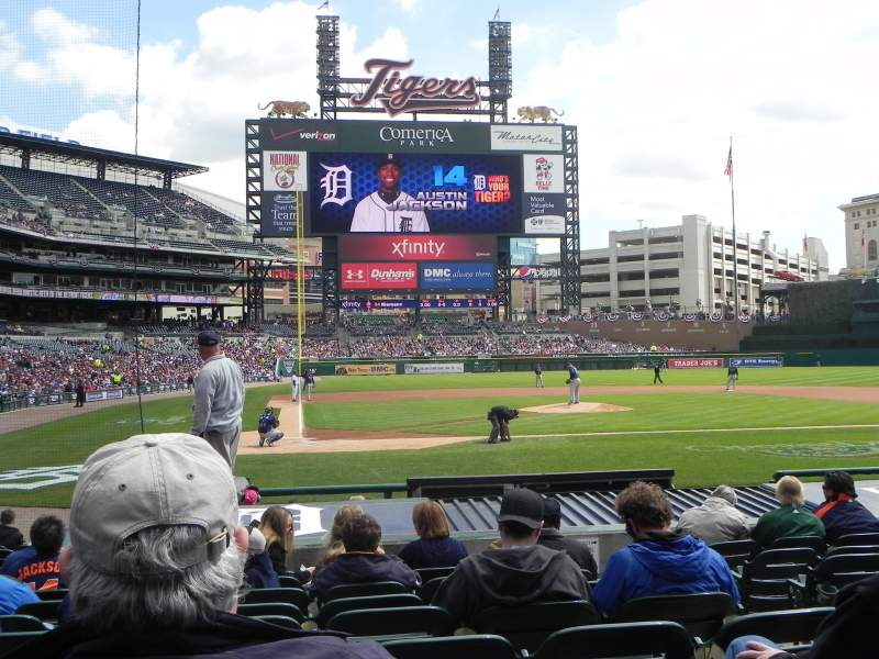 Seating view for Comerica Park Section 124 Row 16