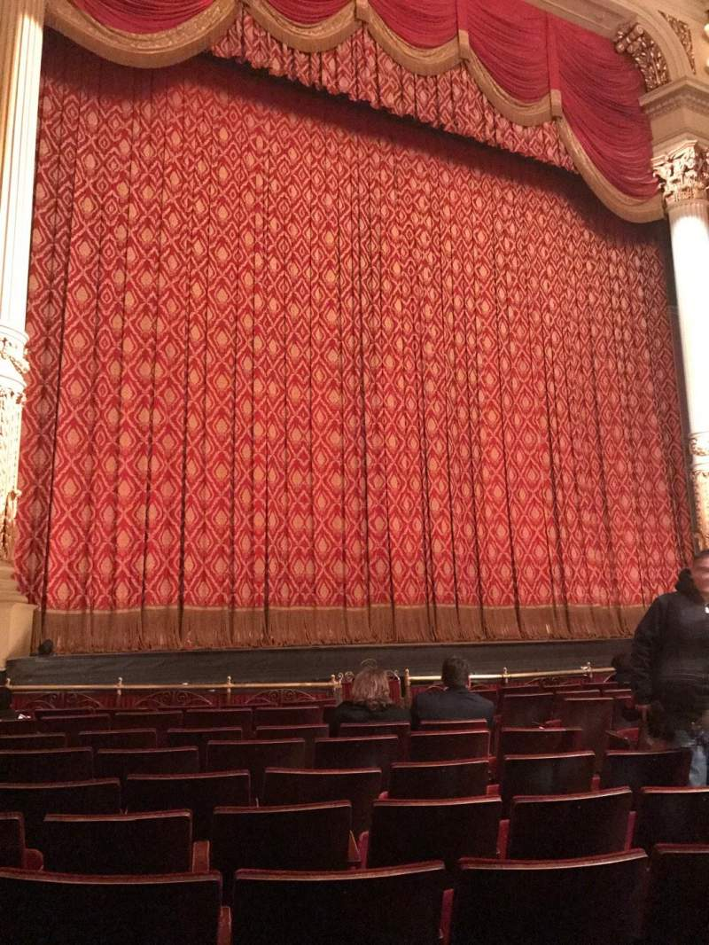Seating view for Academy of Music Section Parquet Left Row F Seat 9