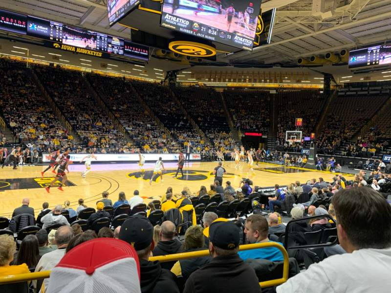 Seating view for Carver-Hawkeye Arena Section M Row 8 Seat 5
