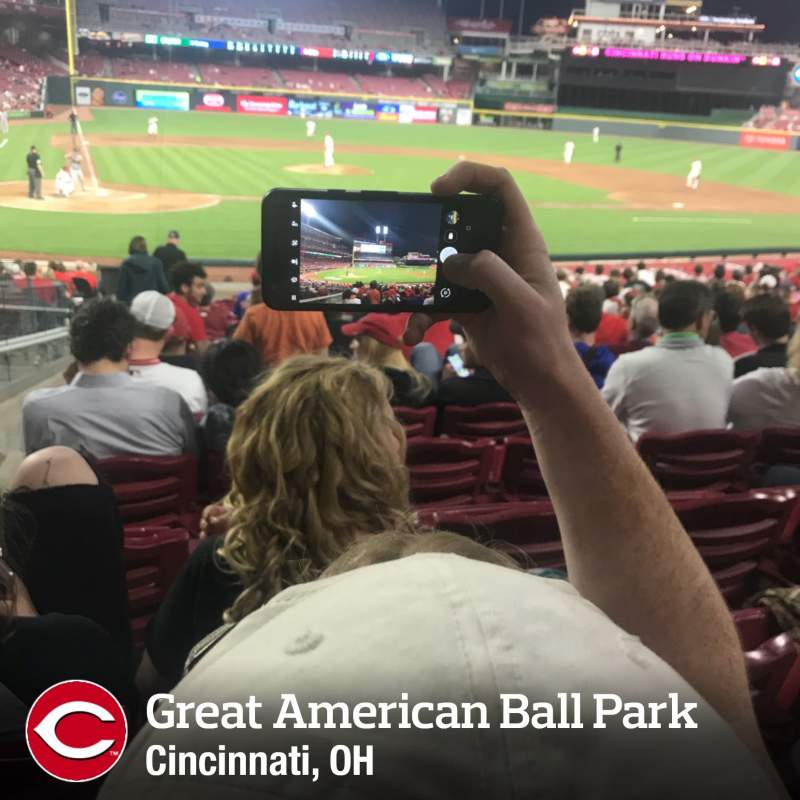 Seating view for Great American Ball Park Section 127 Row W Seat 14