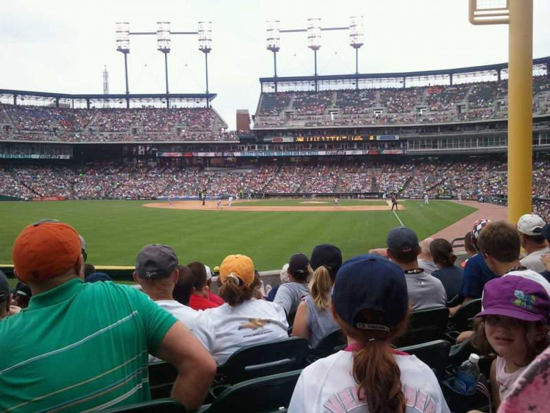 Seating view for Comerica Park Section 144 Row G Seat 15