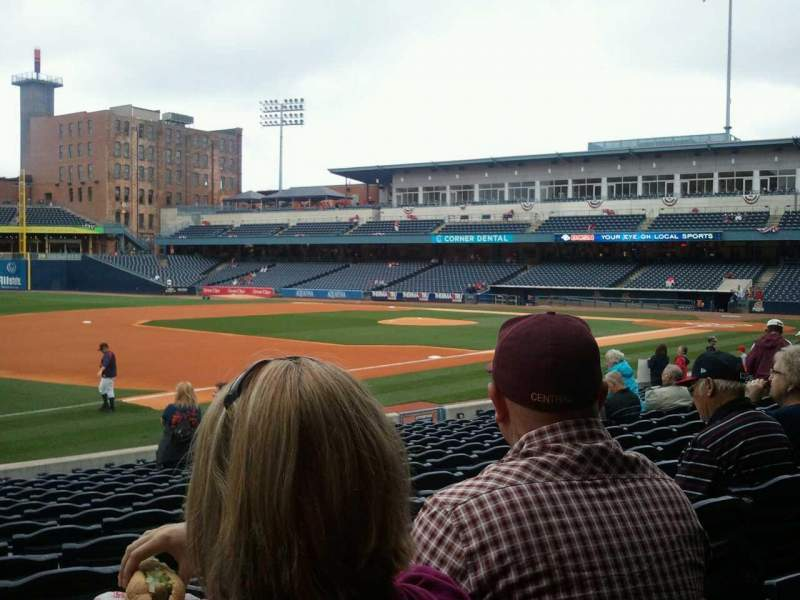 Seating view for Fifth Third Field Section 104 Row q Seat 22