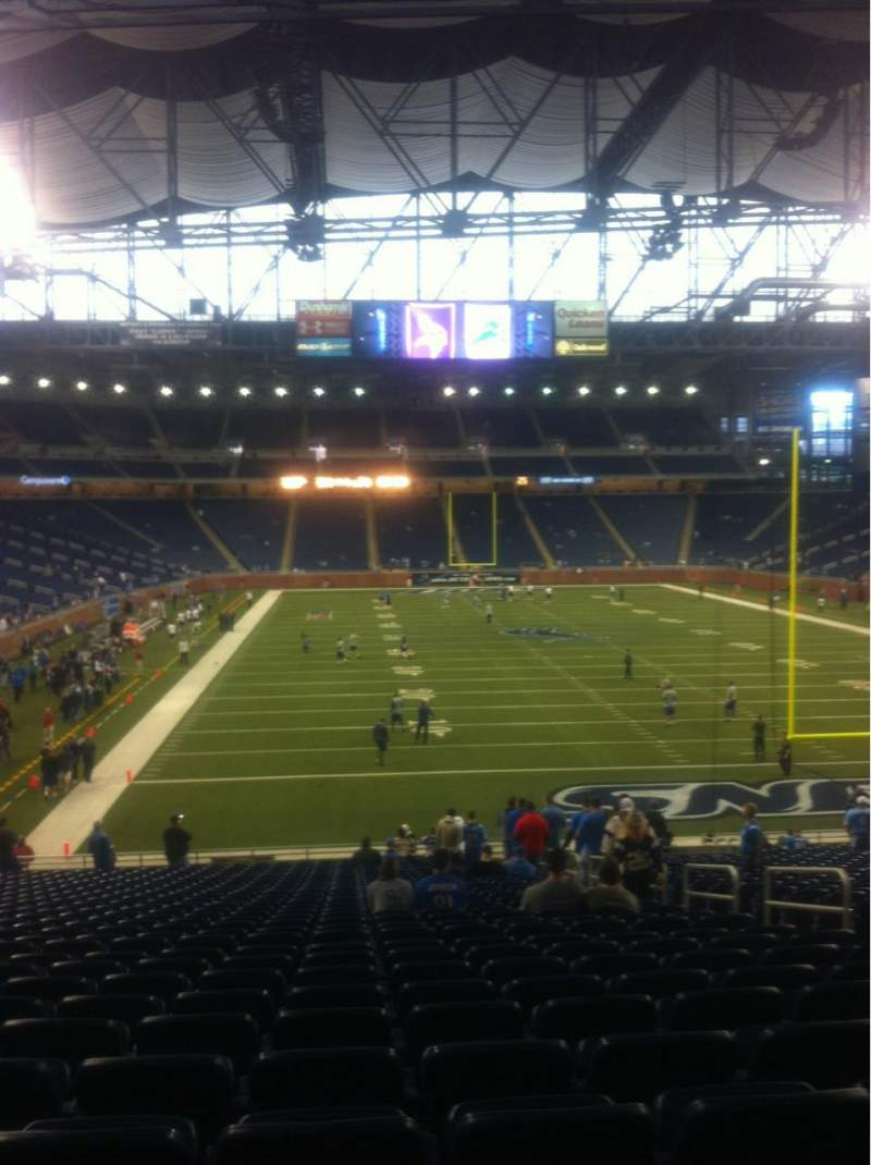 Seating view for ford field Section 136 Row 30 Seat 16