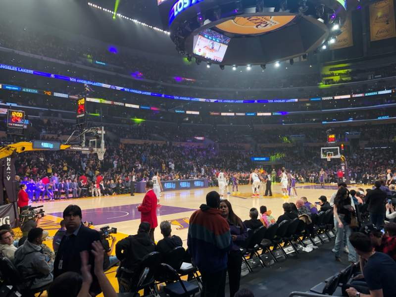 Seating view for Staples Center Section 113 Row 2 Seat 5