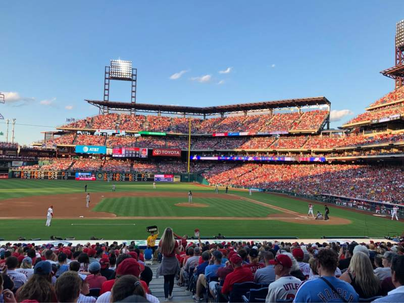 Seating view for Citizens Bank Park Section 131 Row 26 Seat 1