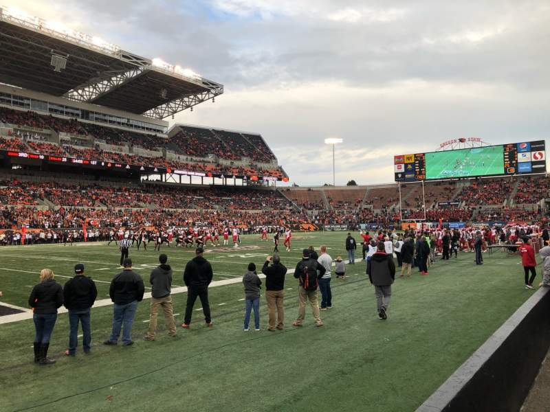 Seating view for Reser Stadium Section 16 Row 2 Seat 25