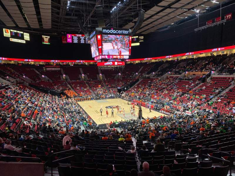 Seating view for Moda Center Section 210 Row F Seat 5