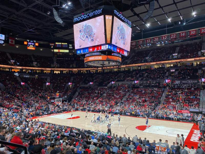 Seating view for Moda Center Section 121 Row P Seat 15
