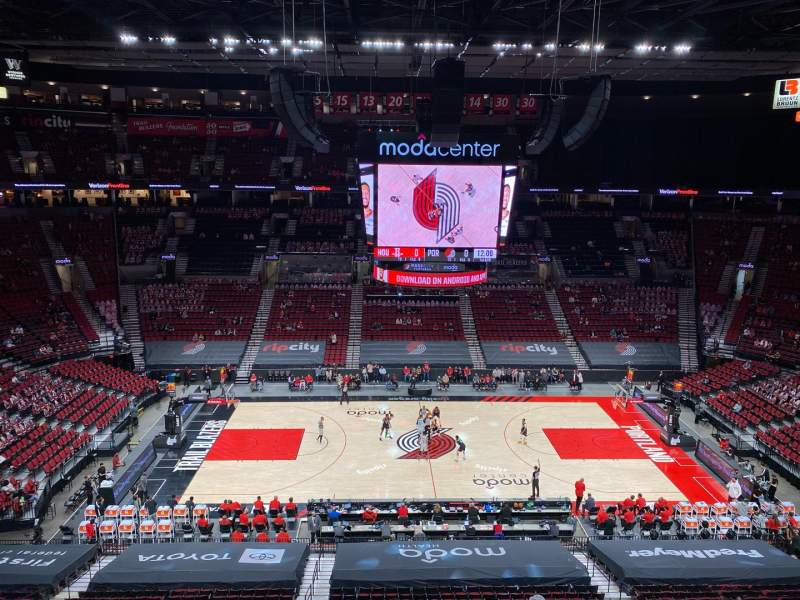 Seating view for Moda Center Section 301 Row B Seat 17