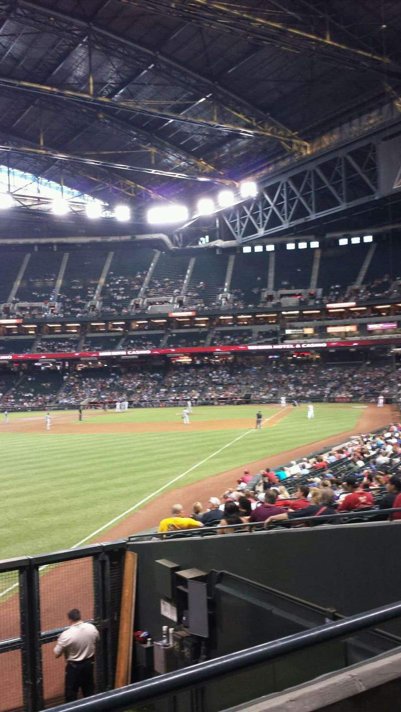 Seating view for Chase Field Section 136 Row 26 Seat 17