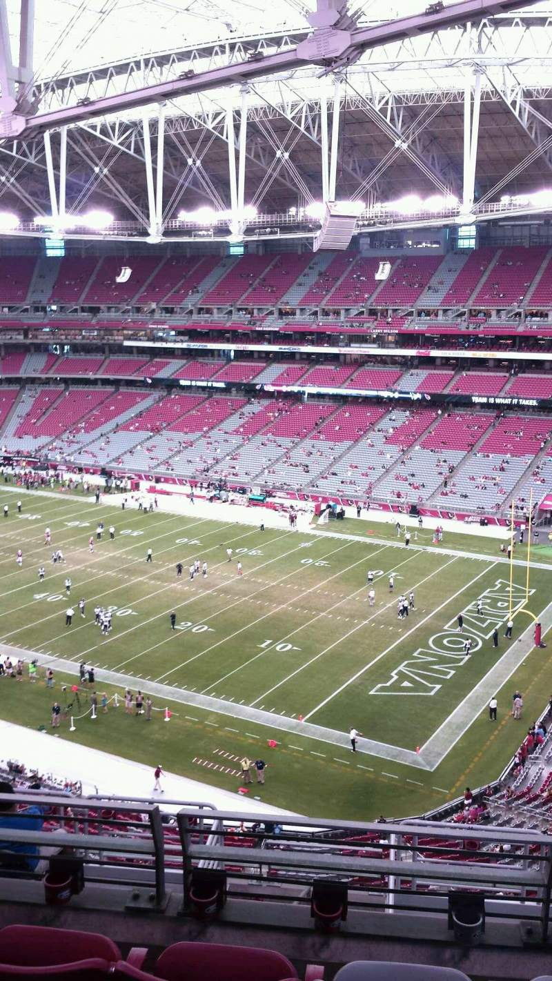 Seating view for University of Phoenix Stadium Section 436 Row 4 Seat 11