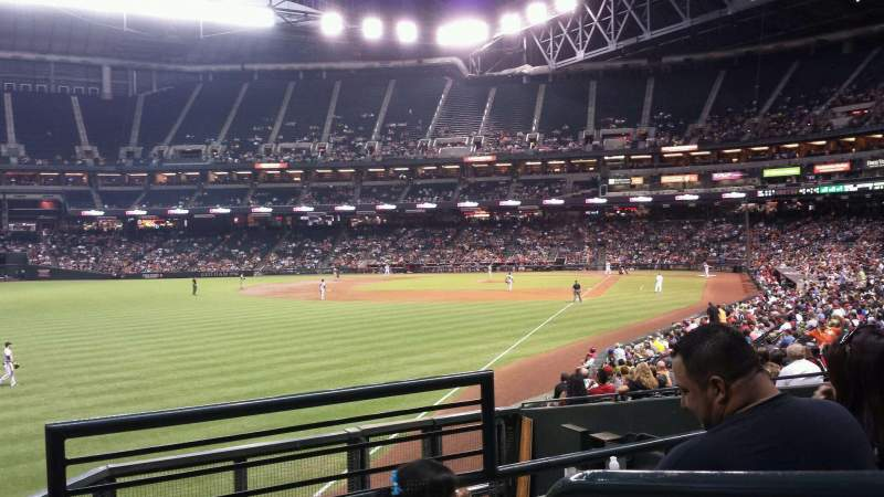 Seating view for Chase Field Section 137 Row 27 Seat 1