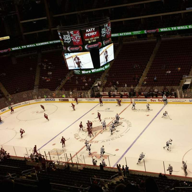 Gila River Arena, section: 213, row: F, seat: 7
