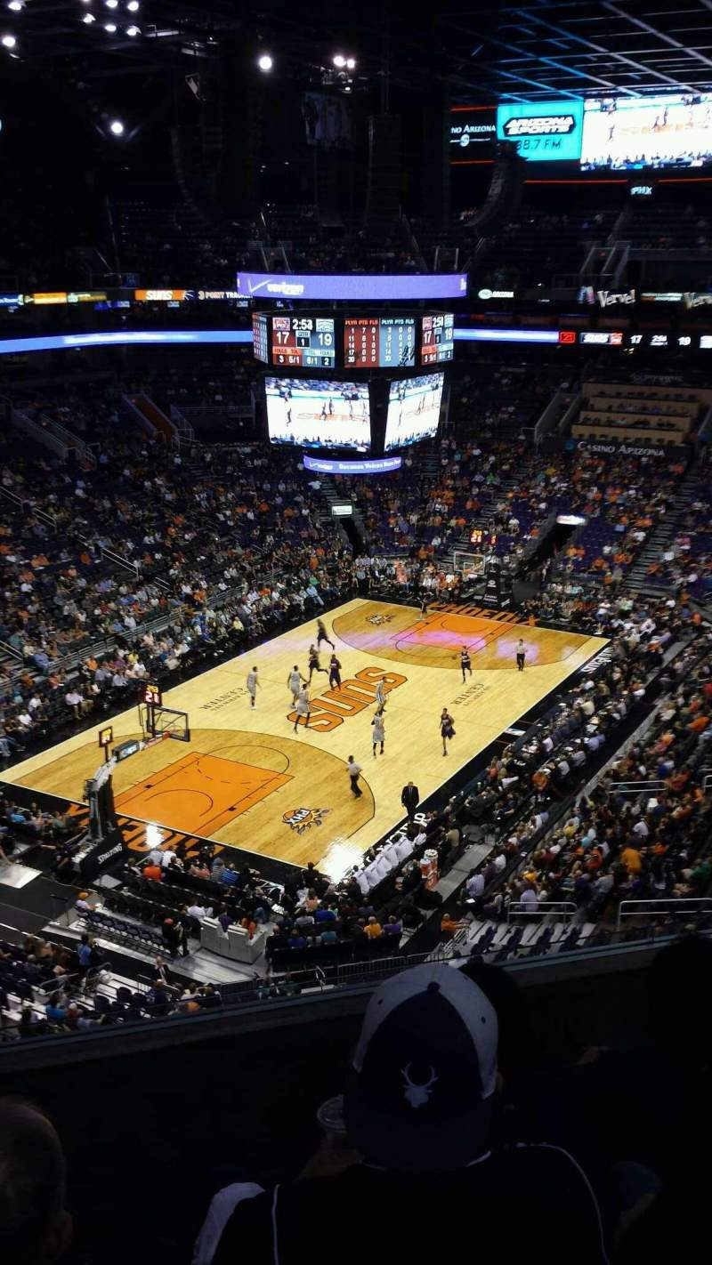 Seating view for Talking Stick Resort Arena Section 208 Row 5 Seat 14
