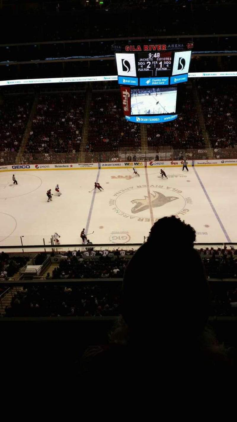 Seating view for Gila River Arena Section 201 Row B Seat 4