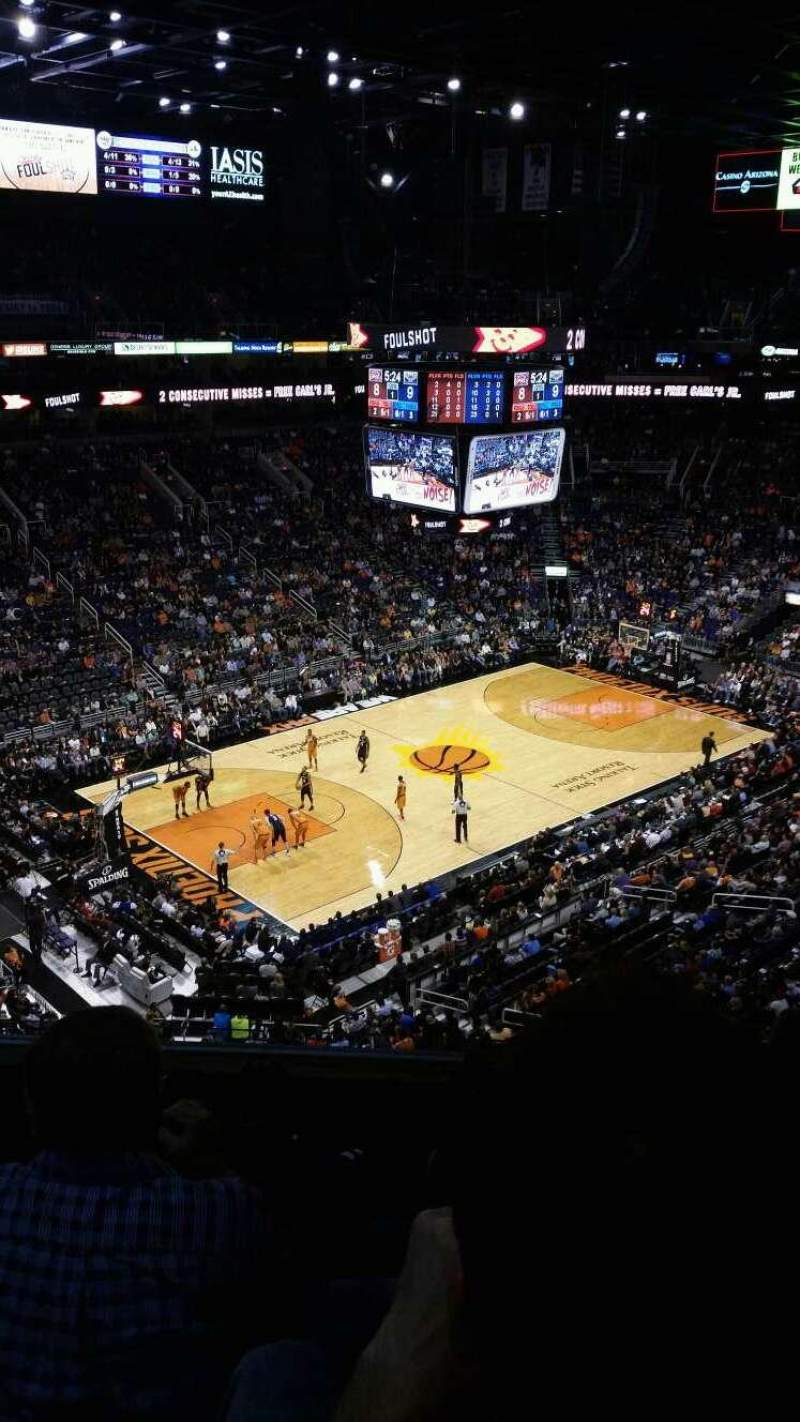 Seating view for PHX Arena Section 207 Row 5 Seat 11