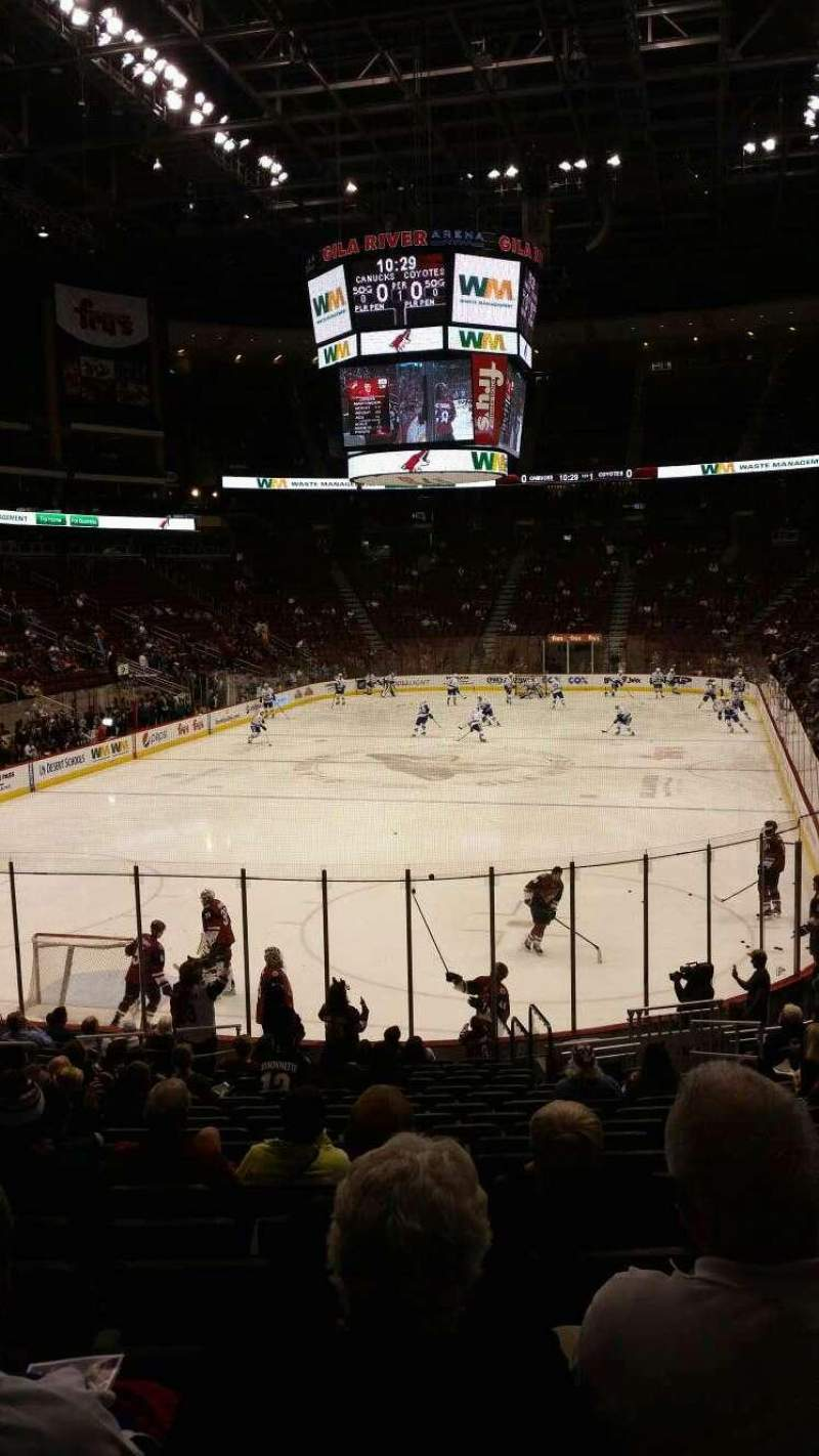 Seating view for Gila River Arena Section 116 Row R Seat 12