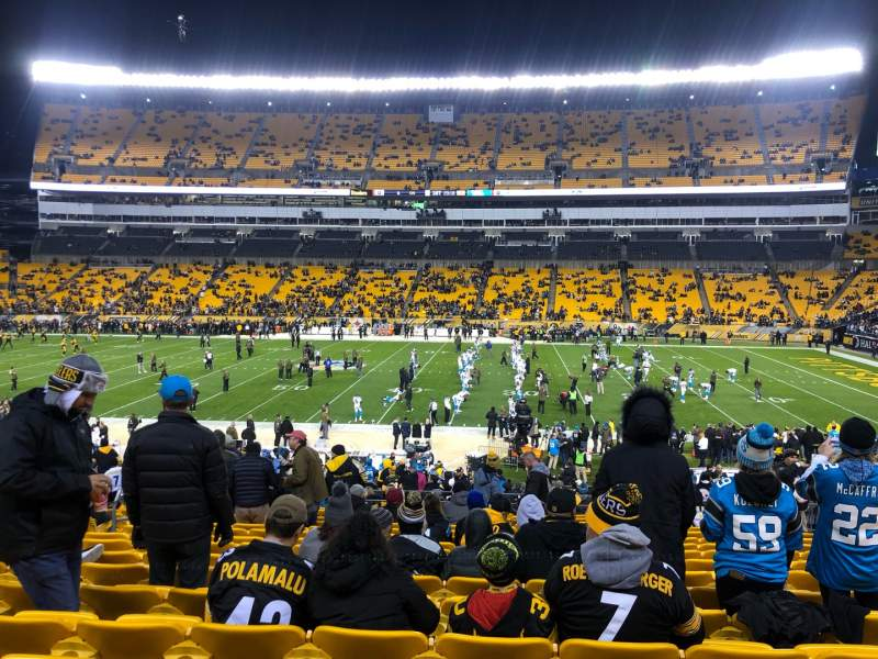 Seating view for Heinz Field Section 112 Row CC Seat 14