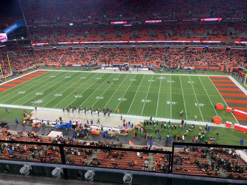 Seating view for FirstEnergy Stadium Section 535 Row 3 Seat 19