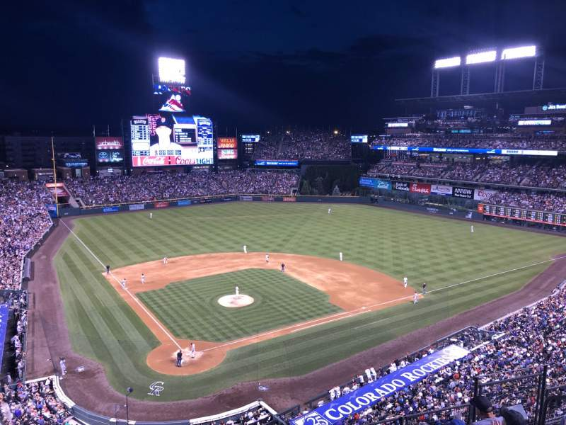 Seating view for Coors Field Section 328W Row W Seat 6