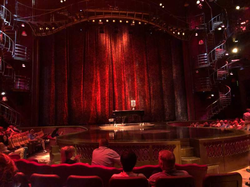 Seating view for Zumanity Theatre Section 102 Row D Seat 17