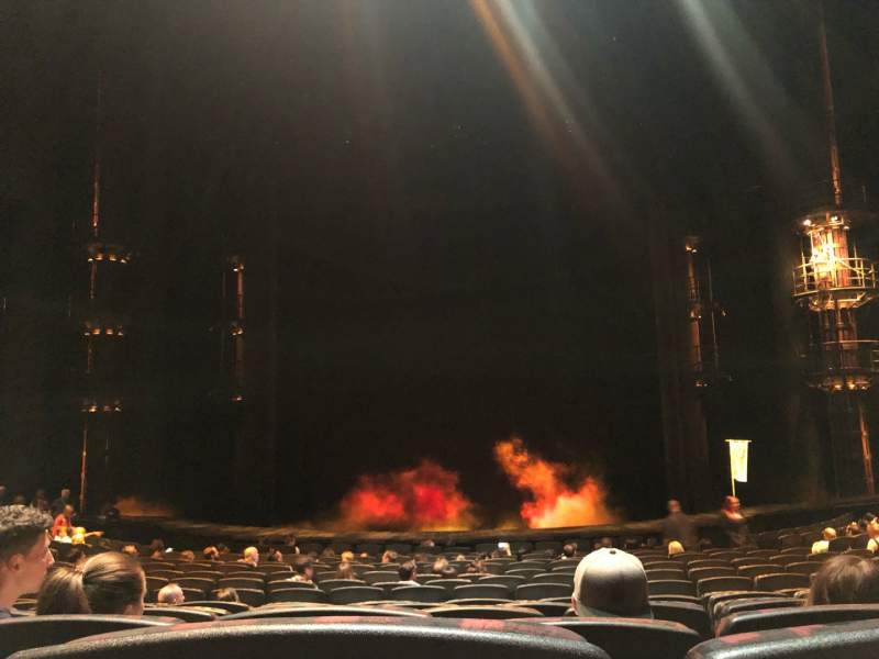 Seating view for KÀ Theatre - MGM Grand Section 102 Row P Seat 18