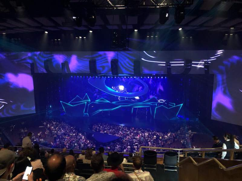 Seating view for Park Theater at Park MGM Section 404 Row N Seat 6