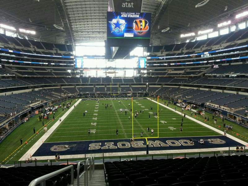 Seating view for AT&T Stadium Section SRO 2nd level, North end zone