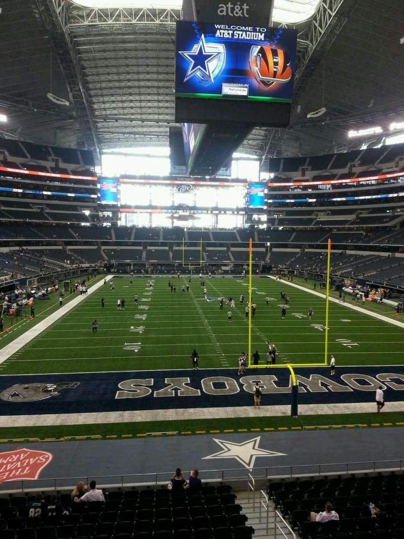 Seating view for AT&T Stadium Section 248 Row 1 Seat 18