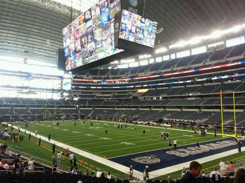 Seating view for AT&T Stadium Section 102 Row 21 Seat 1