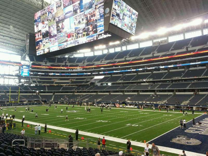 Seating view for AT&T Stadium Section 103 Row 17 Seat 3