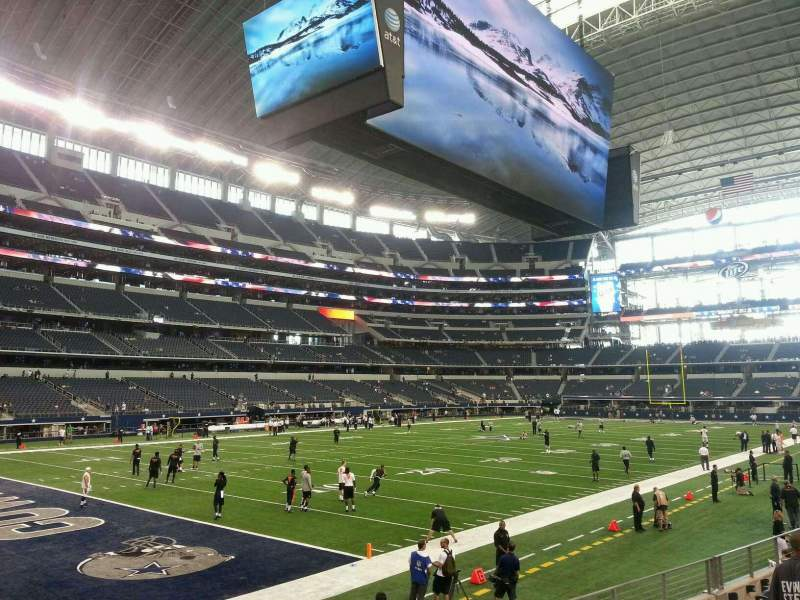 Seating view for AT&T Stadium Section 145 Row 8 Seat 8