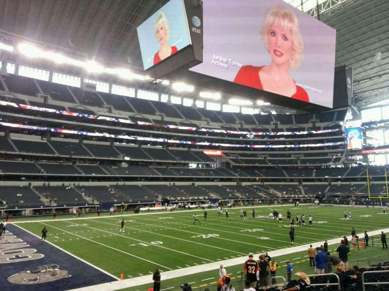 Seating view for AT&T Stadium Section 144 Row 15 Seat 18