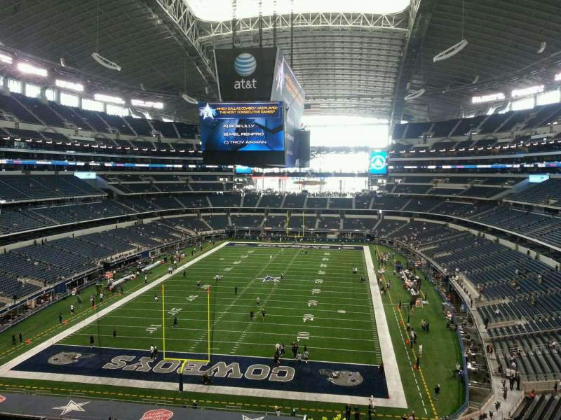 Seating view for AT&T Stadium Section 346 Row 3 Seat 17
