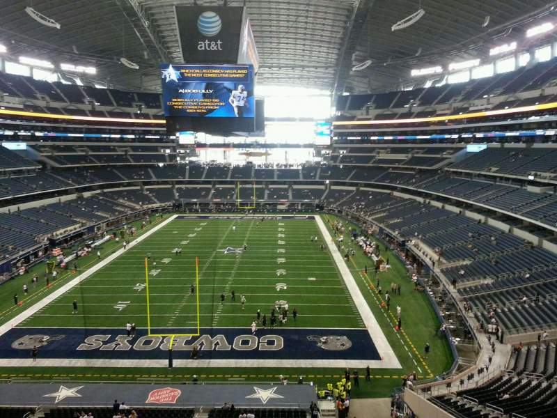 Seating view for AT&T Stadium Section 346 Row 1 Seat 20