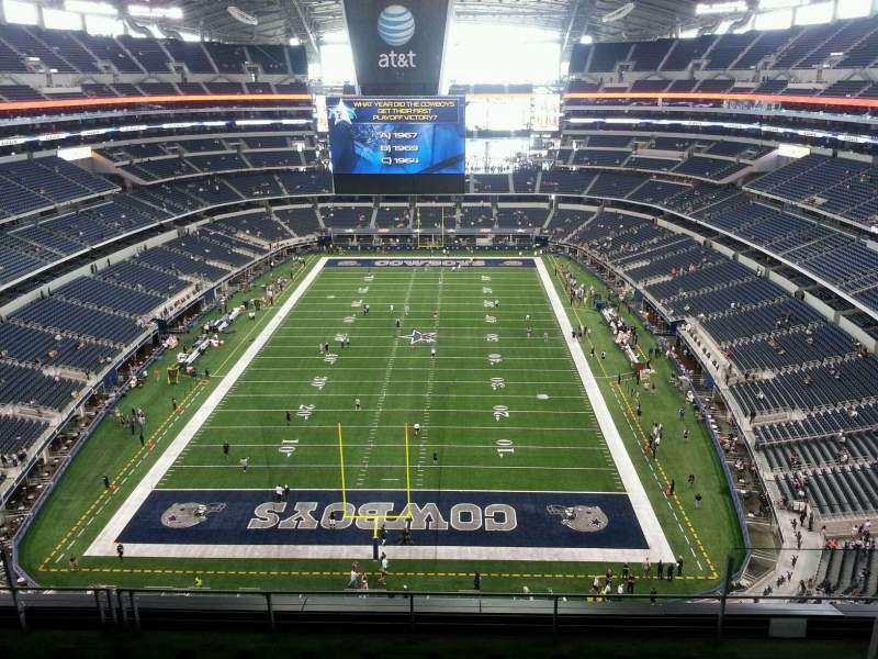 Seating view for AT&T Stadium Section SRO North End Zone, 4th level