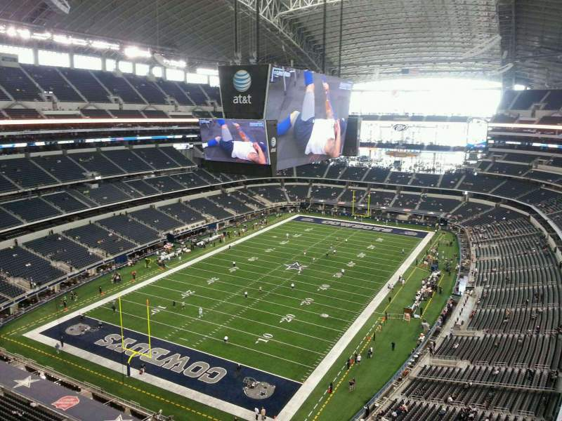 Seating view for AT&T Stadium Section 453 Row 6 Seat 7
