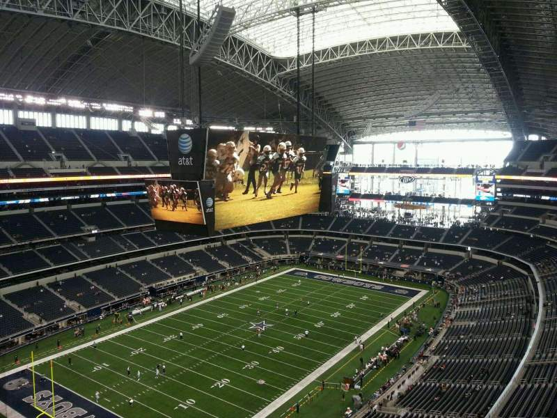 Seating view for AT&T Stadium Section 450 Row 1 Seat 9