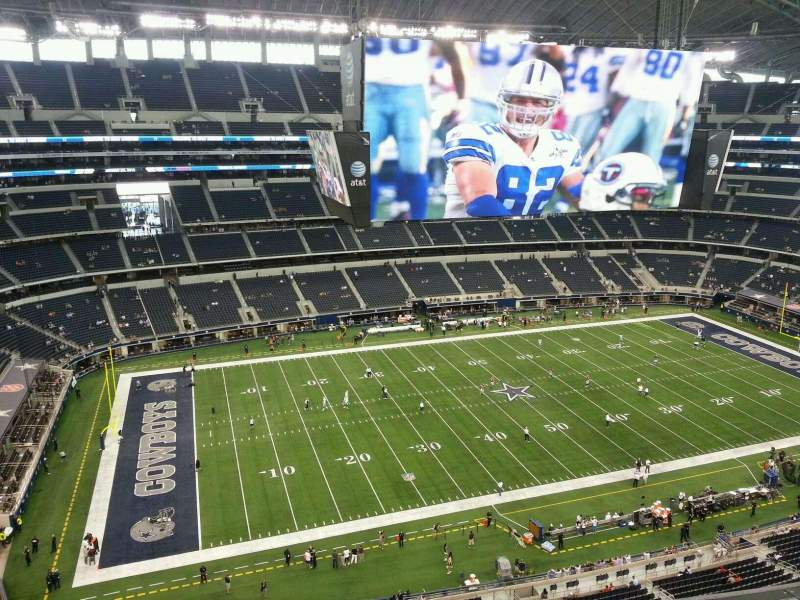 Seating view for AT&T Stadium Section 446 Row 5 Seat 21