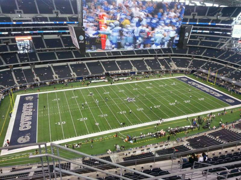Seating view for AT&T Stadium Section 446 Row 11 Seat 25