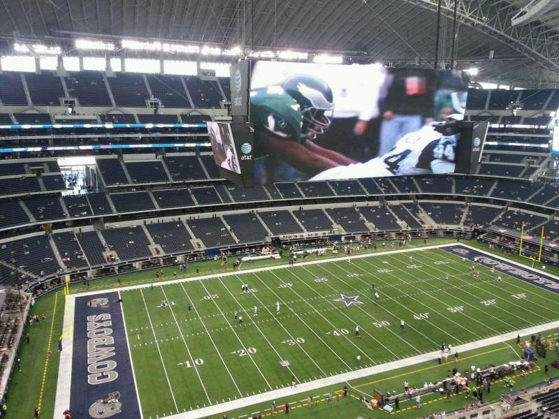 Seating view for AT&T Stadium Section 447 Row Handicap