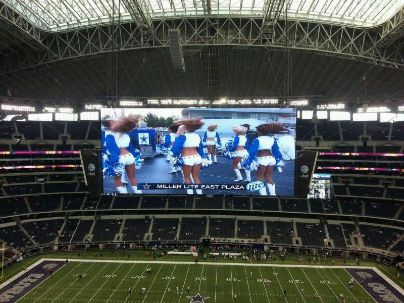 Seating view for AT&T Stadium Section 443 Row 6 Seat 1
