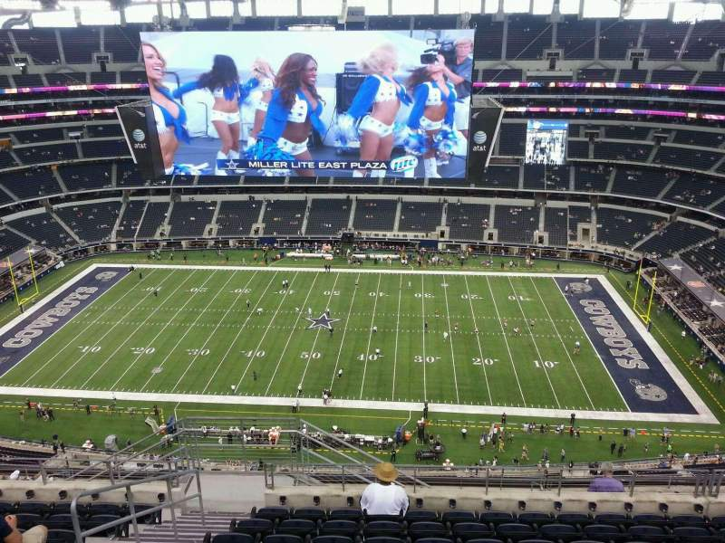 Seating view for AT&T Stadium Section 442 Row 17 Seat 23