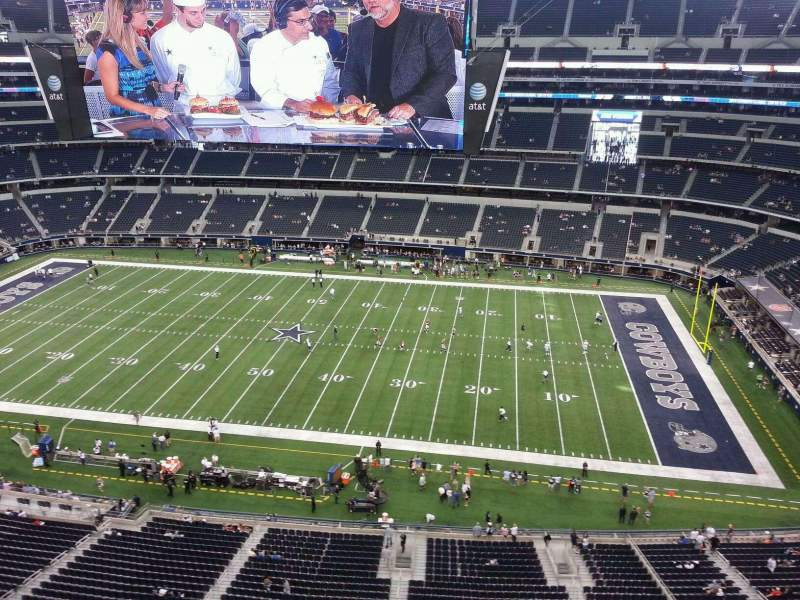 Seating view for AT&T Stadium Section 440 Row 3 Seat 9