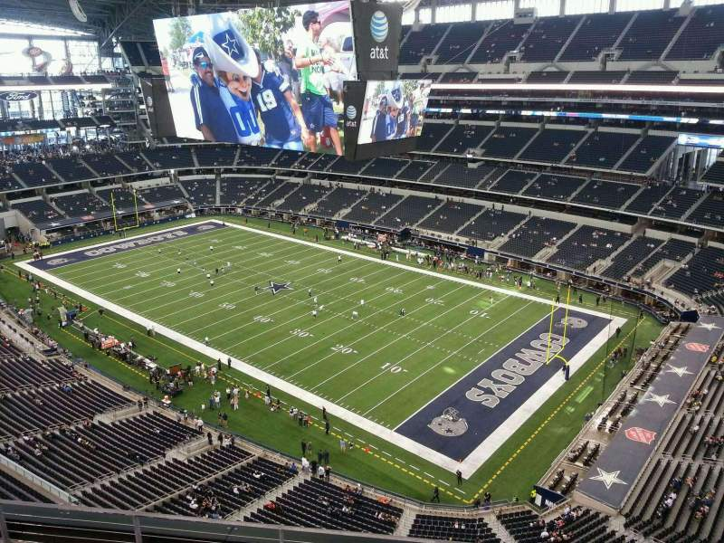 Seating view for AT&T Stadium Section 436 Row 5 Seat 13