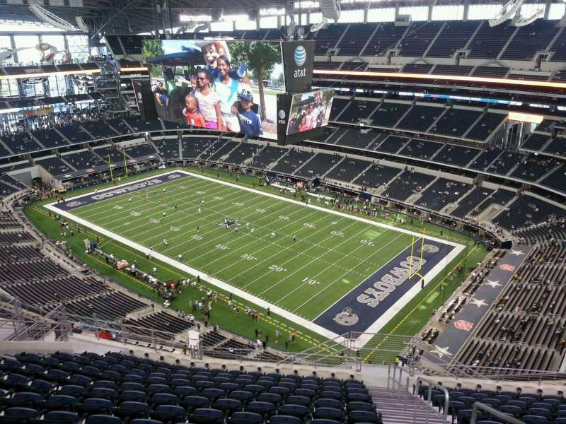 Seating view for AT&T Stadium Section 436 Row 21 Seat 1