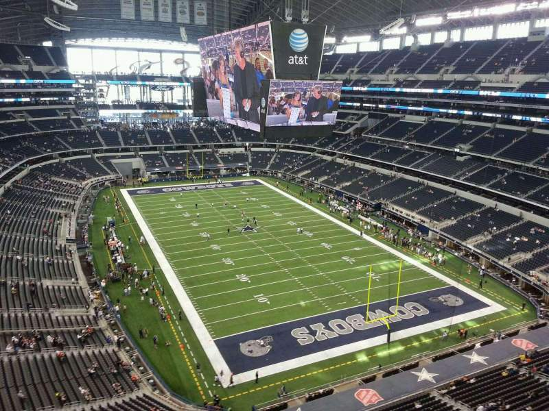 Seating view for AT&T Stadium Section 432 Row 3 Seat 10