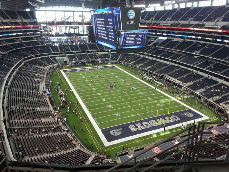 Seating view for AT&T Stadium Section 432 Row 11 Seat 5