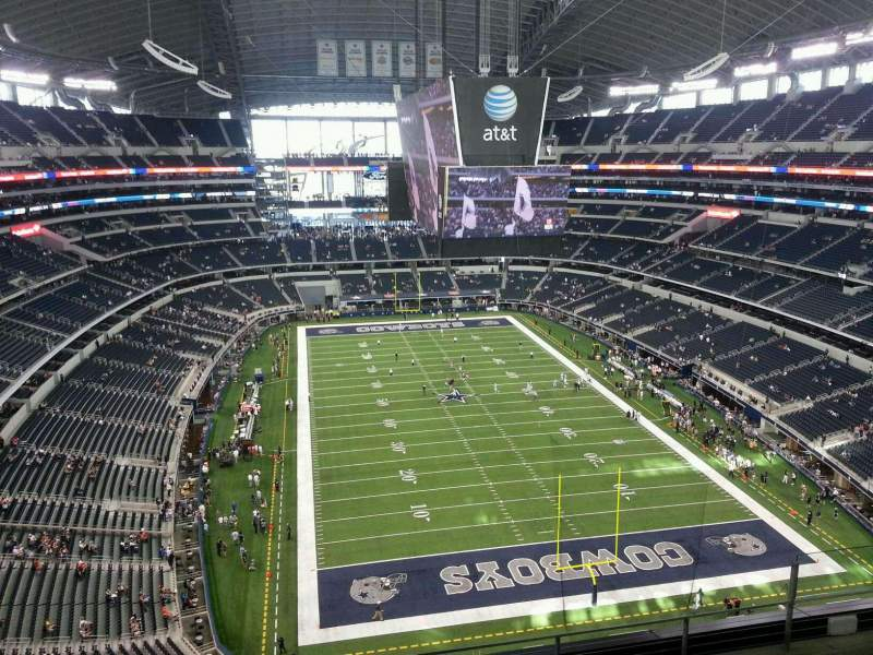 Seating view for AT&T Stadium Section SRO South End Zone, 4th level Row Party Pass
