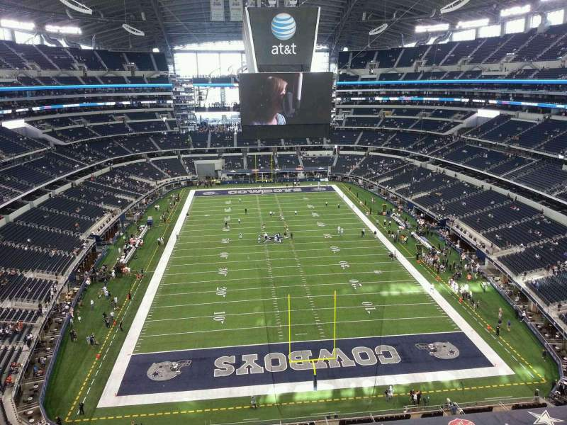 Seating view for AT&T Stadium Section 428 Row 1 Seat 9